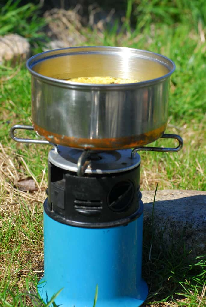 Camping Stove with Food